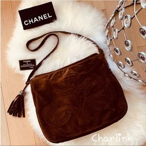 CHANEL Triple CC 🎀 XL Crossbody Brown Suede bag